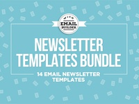 14 Email Newsletter Templates Bundle + Online Builder