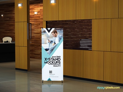 X Banner And Roll Up Banner Mockups Vol. 1