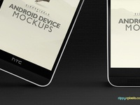 image 1 - 2 Free Android Device Mockups – HTC ONE M8