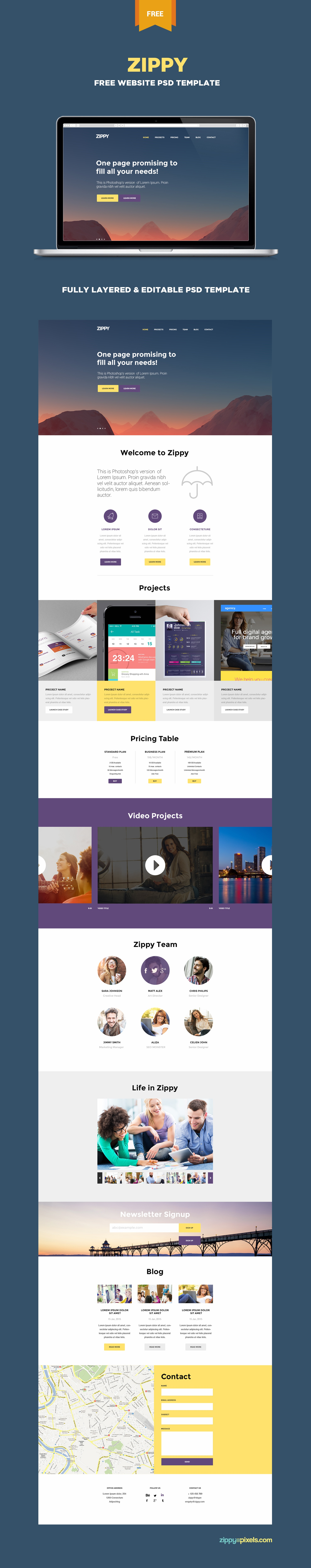 Web templates free download html psd