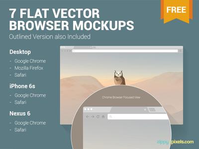 7 Free Web & Mobile Browser Mockups