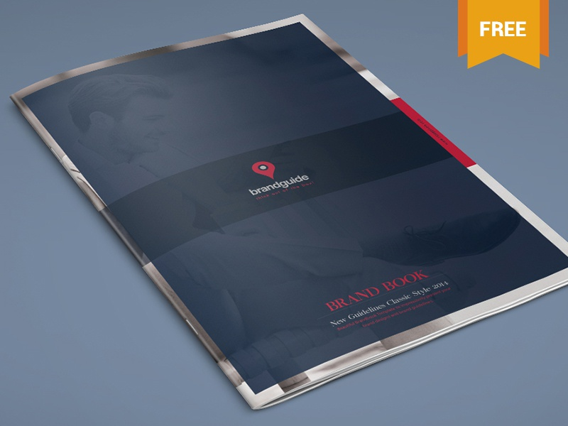 the harmony free brand book template a4 size pdf indd ai corporate identity brand identity