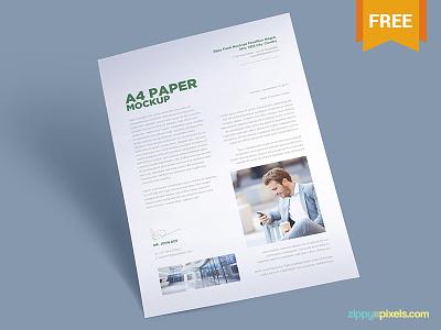 Free A4 Paper Mockup Vol. 1 branding design stationery design a4 paper template paper design a4 paper mockup paper mockup psd paper a4 size mockup freebie free