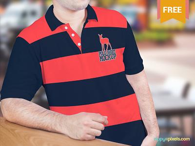 Beautiful Free Polo Shirt Mockup apparel garment clothing polo shirt mockup polo shirt t shirt t-shirt tshirt mockup psd freebie free