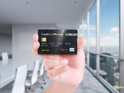 Free Credit Card Mockup  photoshop mockup card design card mockup business card debit card master card visa card credit card psd mockup freebie free