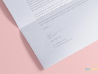 image 4 - Free US Letter Paper Mockup