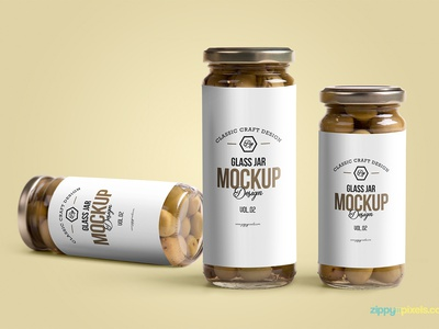 Free Glass Jar Mockup  packaging branding labeling glass jar mockup glass bottle glass container glass jar psd mockup freebie free