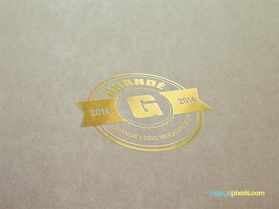 5 Attractive Paper Logo Mockups Vol. 1