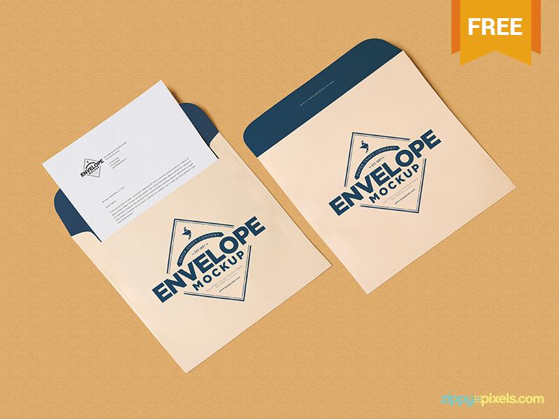 free envelope letterhead mockup psd by zippypixels dribbble