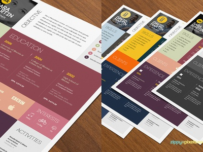 Simple and Colorful Resume & Cover Letter Template cv template psd resume resume design curriculum vitae cv professional resume cover letter template resume template cover letter resume psd template