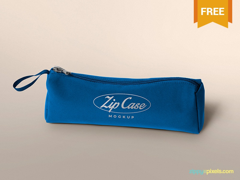 Free Pencil Case Mockup photoshop presentation customizable merchandising product design stationery pencil pouch pencil case psd mockup freebie free