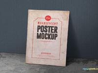 image 1 - 2 Free Vintage Poster Mockup PSDs