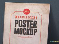 image 2 - 2 Free Vintage Poster Mockup PSDs