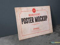 image 3 - 2 Free Vintage Poster Mockup PSDs