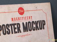 image 4 - 2 Free Vintage Poster Mockup PSDs