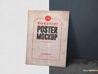 image 5 - 2 Free Vintage Poster Mockup PSDs