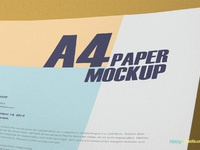 image 2 - Free Textured A4 Paper Mockup PSD