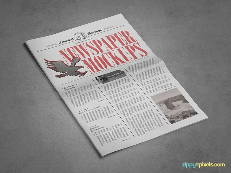 9 Newspaper Psd Advertisement Mockups Vol 8 By Zippypixels