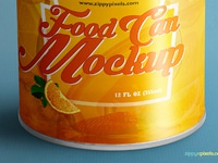 image 2 - Free Food Can Mock-Up
