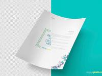 image 4 - Free A4 Size Paper PSD Mockup