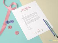 image 1 - Free US Letter Size Paper Mock-Up