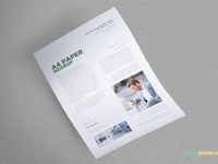 image 3 - Free Letterhead Mock-Up In A4 Size