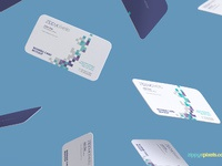 image 2 - Free Gravity Business Card Mockup