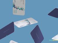 image 1 - Free Gravity Business Card Mockup