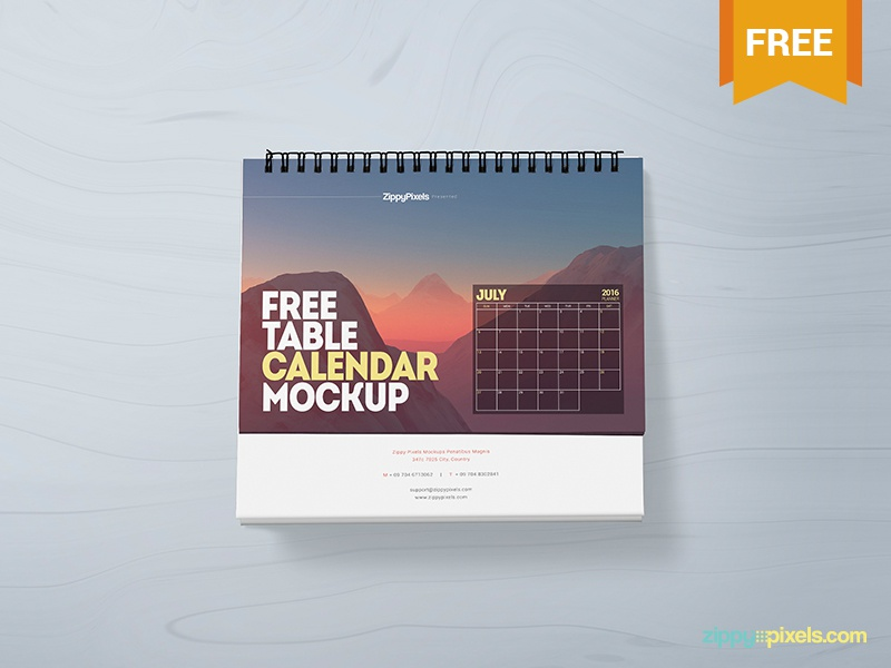 Table Calendar Mockup : Free table calendar mockup by zippypixels dribbble