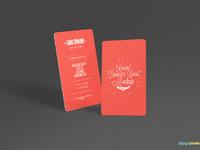 image 01 - Free Round Business Card Mockup