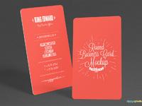 image 02 - Free Round Business Card Mockup