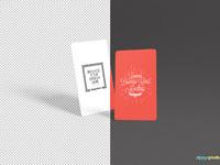 image 03 - Free Round Business Card Mockup