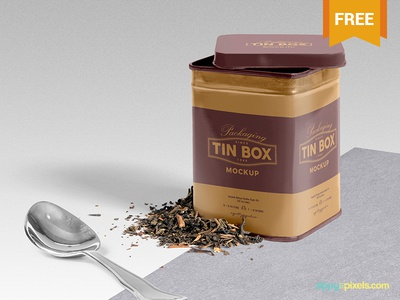 Free Packaging Tin Box Mockup