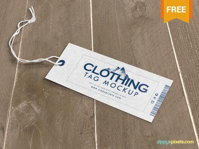 Free Clothing Tag Mockup PSD