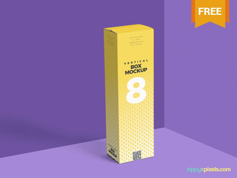 free vertical box mockup psd by zippypixels dribbble