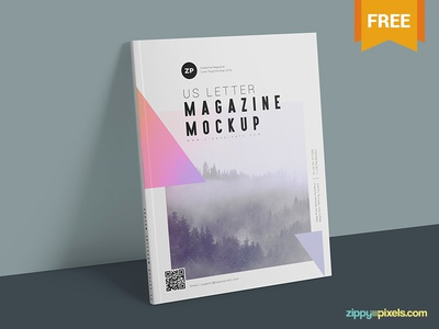 Two Free US Letter Size Magazine Mockups