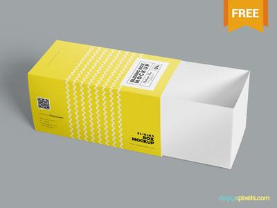 3 Free Drawer Box Mockups PSD