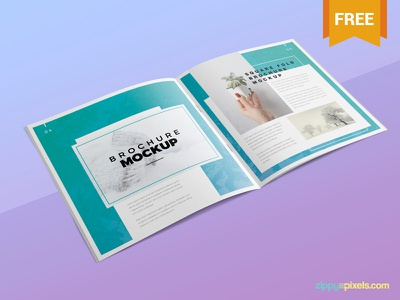 Free Square Brochure Mockup square freemockup advertisement flyer photoshop psd mockup brochure freebie free