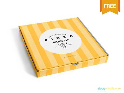 Free Delicious Pizza Box Mockup packaging pizzabox photoshop psd box pizza mockup freebie free