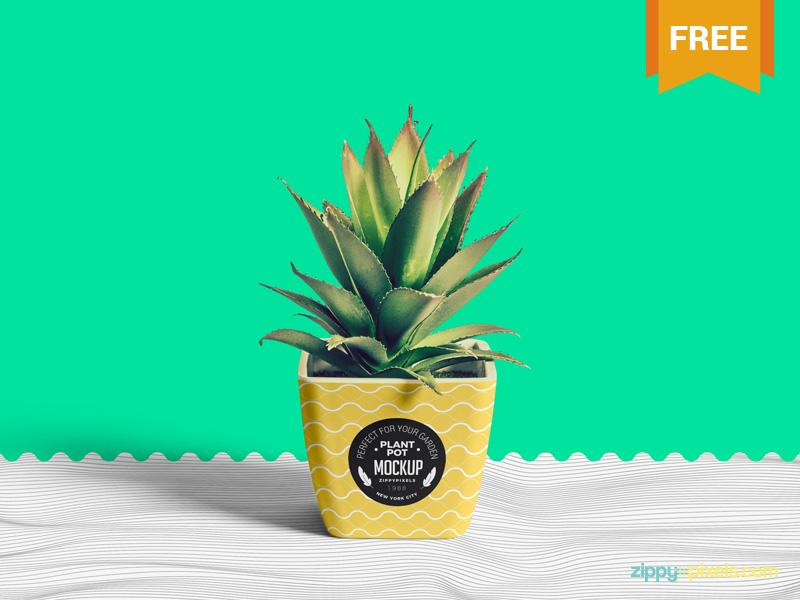 Free Flower Pot Mockup miscellaneous branding gardeningpot flowerpot plantpot pot photoshop psd mockup freebie free