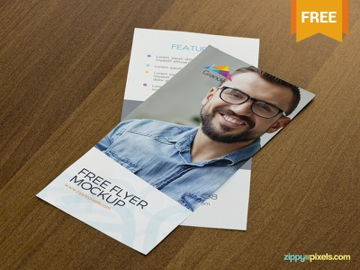 Free Attractive Flyer Mockup branding advertisement brochure photoshop psd flyer mockup freebie free