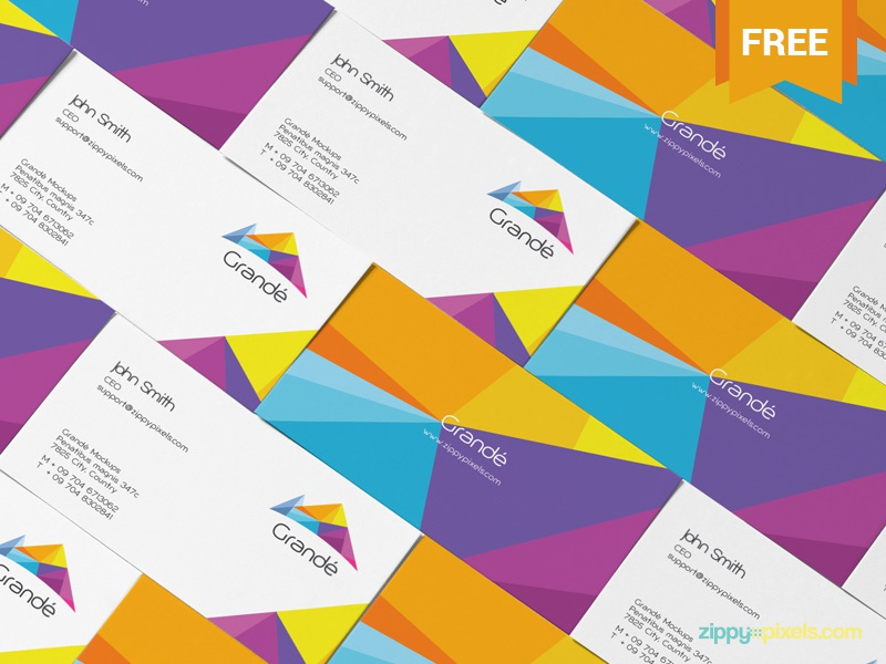 Free Stylish Personal Card Mockup stationery business visiting card personal photoshop psd mockup freebie free