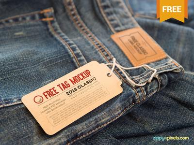2 Free Clothing Label Mock Ups