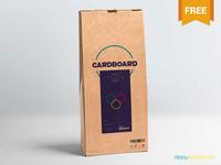 Free Cardboard Pouch Packaging Mockup