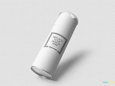 Free Stunning Cardboard Tube Mockup tin branding packaging cardboard tube photoshop psd mockup freebie free