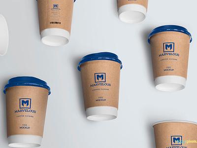 Free Awesome Coffee Cup Mockup disposable coffee mug cup branding packaging photoshop psd mockup freebie free