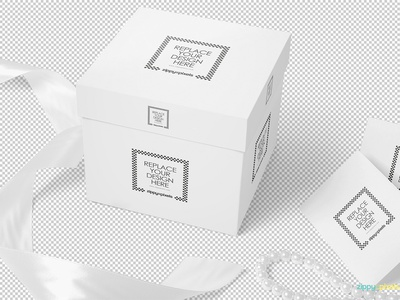 Free Luxury Gift Mockup card greeting packaging box gift photoshop psd mockup freebie free