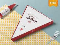 Free Pizza Slice Box Mockup
