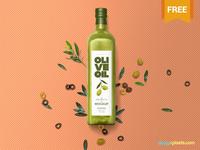 Free Customizable Glass Bottle Mockup