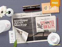 Free Newspaper Mock Up PSD
